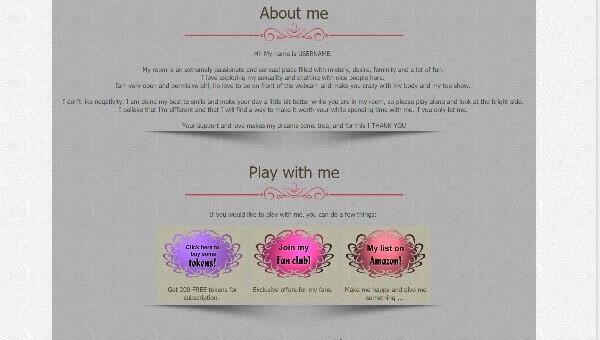 Design 3 – Chaturbate profile already created