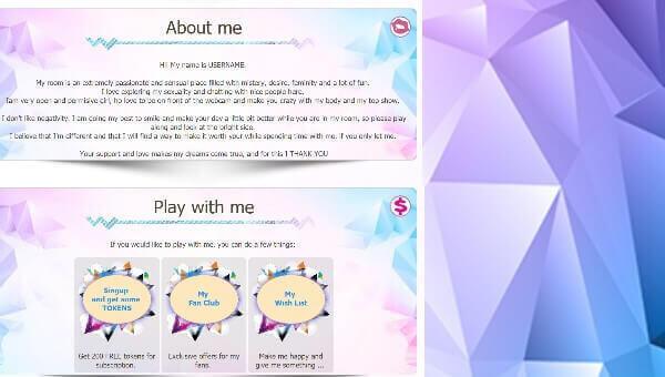 Design 5 – Chaturbate profile already created