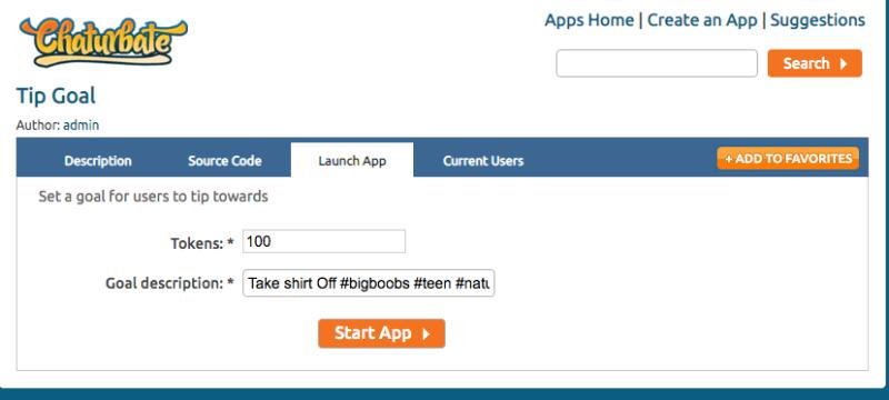 Configurar la App Tip Goal