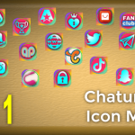 Pak 1 – Chaturbate Social Media Button and Icon Maker