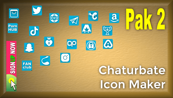 Pak 2 – Chaturbate Social Media Button and Icon Maker