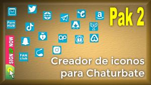 Pak 2 – Creador de iconos y botones de redes sociales para Chaturbate