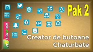 Pak 2 – Creator de butoane și pictograme social media pentru Chaturbate