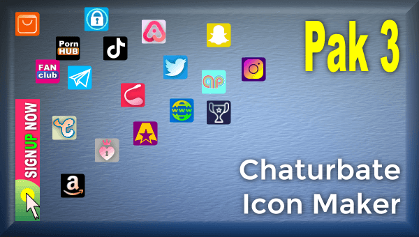 Pak 3 – Chaturbate Social Media Button and Icon Maker