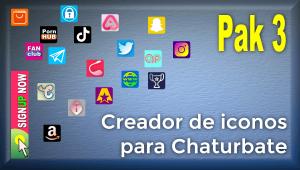 Pak 3 – Creador de iconos y botones de redes sociales para Chaturbate