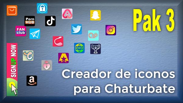 Pak 3 - Creador de iconos y botones de redes sociales para Chaturbate