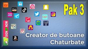 Pak 3 – Creator de butoane și pictograme social media pentru Chaturbate