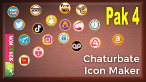Pak 4 – Chaturbate Social Media Button and Icon Maker