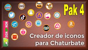 Pak 4 – Creador de iconos y botones de redes sociales para Chaturbate