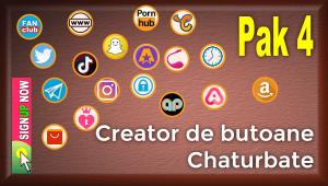 Pak 4 – Creator de butoane și pictograme social media pentru Chaturbate