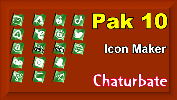 Pak 10 - Chaturbate Social Media Button and Icon Maker