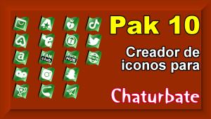 Pak 10 – Creador de iconos y botones de redes sociales para Chaturbate