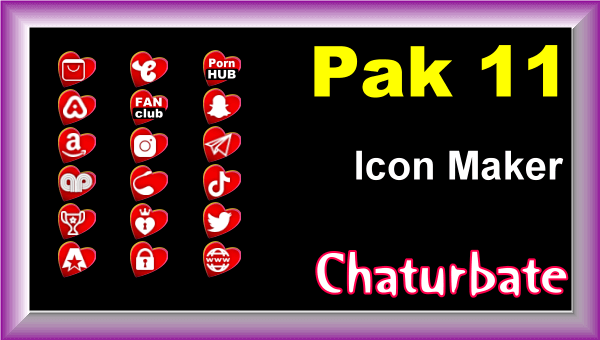Pak 11 - Chaturbate Social Media Button and Icon Maker