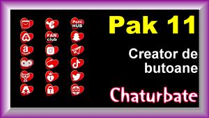 Pak 11 – Creator de butoane și pictograme social media pentru Chaturbate