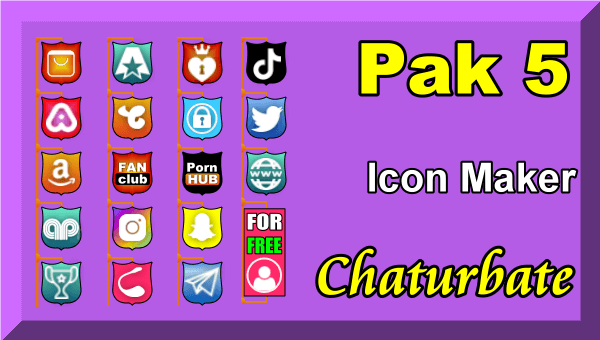 Pak 5 – Chaturbate Social Media Button and Icon Maker