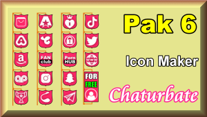 Pak 6 – Chaturbate Social Media Button and Icon Maker