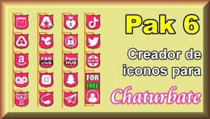 Pak 6 – Creador de iconos y botones de redes sociales para Chaturbate