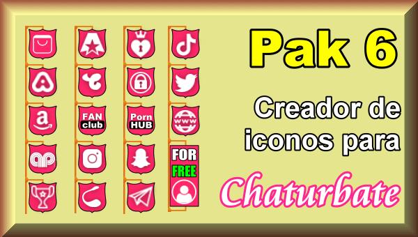 Pak 6 - Creador de iconos y botones de redes sociales para Chaturbate