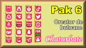 Pak 6 – Creator de butoane și pictograme social media pentru Chaturbate