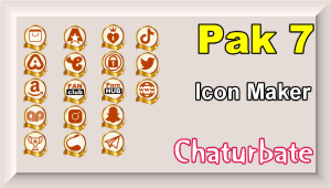 Pak 7 – Chaturbate Social Media Button and Icon Maker