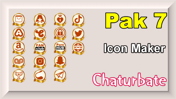 Pak 7 - Chaturbate Social Media Button and Icon Maker