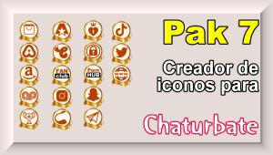 Pak 7 – Creador de iconos y botones de redes sociales para Chaturbate