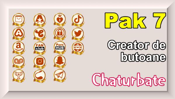 Pak 7 - Creator de butoane și pictograme social media pentru Chaturbate