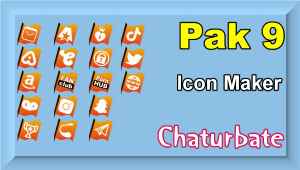 Pak 9 – Chaturbate Social Media Button and Icon Maker