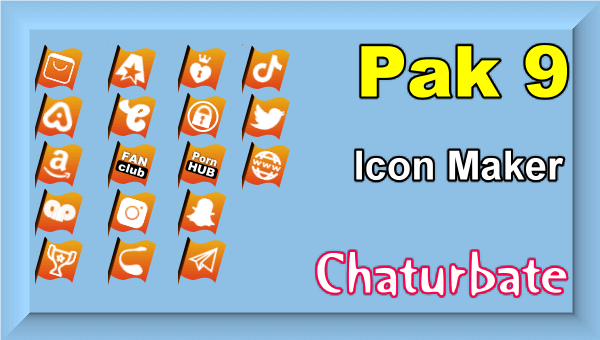 Pak 9 - Chaturbate Social Media Button and Icon Maker