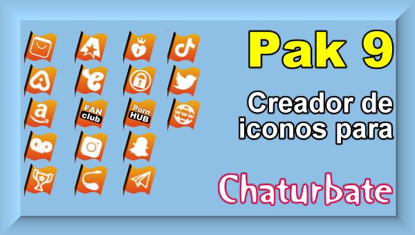 Pak 9 - Creador de iconos y botones de redes sociales para Chaturbate