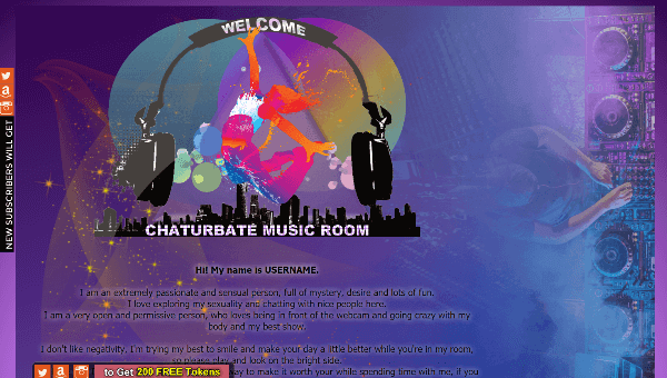 Design 18 – Chaturbate profile already created