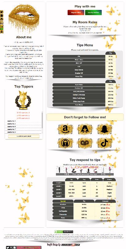 DEMO Design 26 - Chaturbate BIO profile