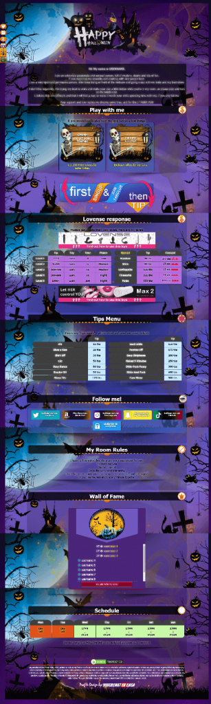 Design 23 - VideoChat profile for Halloween