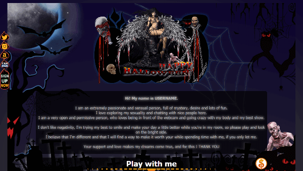 Design 24 – VideoChat profile already created – Special Halloween