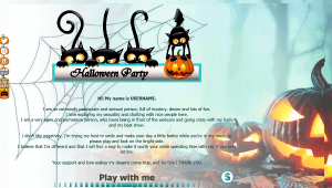 Design 25 – VideoChat profile already created – Special Halloween