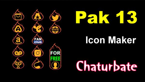 Details Pak 12 - Chaturbate Social Icons