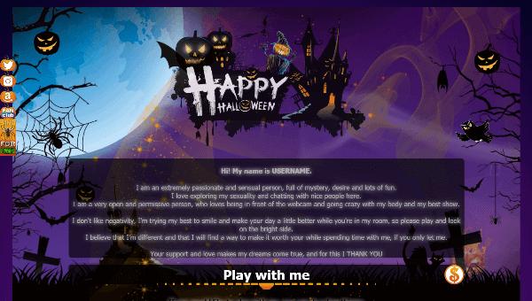Diseño 23 – perfil VideoChat ya creado – especial Halloween