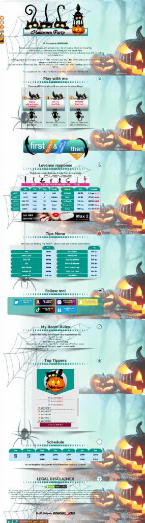 Diseño 25 - perfil Chaturbate especial Halloween