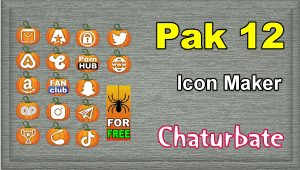 Pak 12 – Chaturbate Social Media Button and Icon Maker