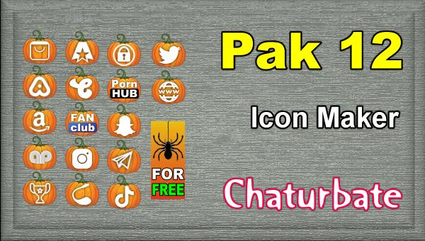Pak 12 - Chaturbate Social Media Button and Icon Maker