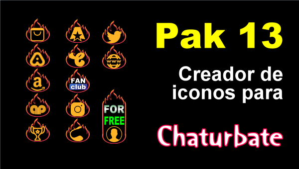Detalles iconos sociales Chaturbate pak13