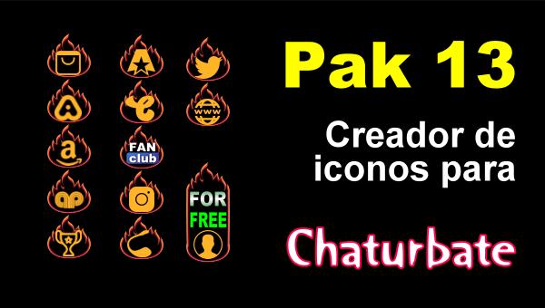 Pak 13 - Creador de iconos y botones de redes sociales para Chaturbate