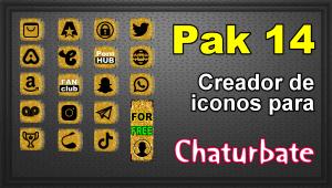 Pak 14 – Generador de iconos y botones de redes sociales para Chaturbate