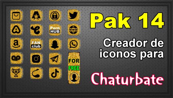 Pak 14 - Generador de iconos y botones de redes sociales para Chaturbate