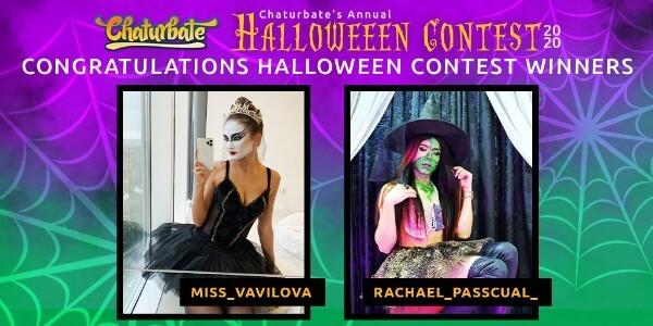 Ganadores Concurso Halloween Chaturbate 2