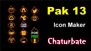 Pak 13 – Chaturbate Social Media Button and Icon Maker