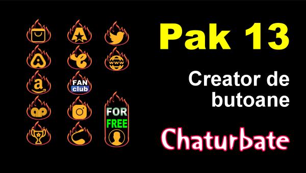 Pak 13 pictograme social media pentru Chaturbate
