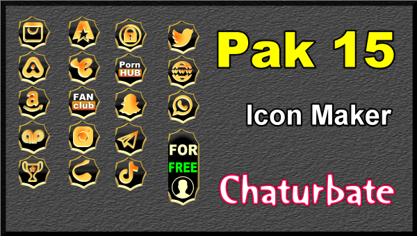 Pak 15 - FREE Chaturbate Social Media Button and Icon Maker