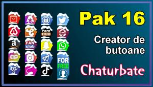 Pak 16 – Generator de butoane și pictograme pentru Chaturbate