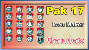 Pak 17 – FREE Chaturbate Social Media Button and Icon Maker